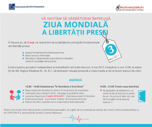 Lansarea Raportului FreeEx (2016-2017) – Libertatea Presei în România